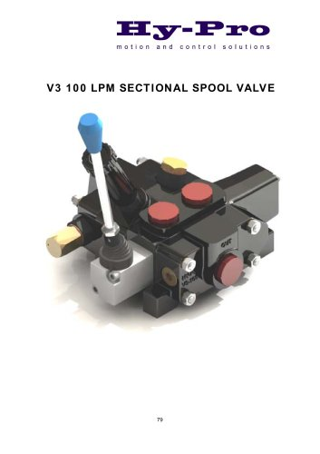 V3 100 LPM SECTIONAL SPOOL VALVE
