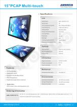 15inches open frame touch screen lcd monitor for ATM / Non-cash equipment etc