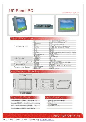 Amongo 15''flat screen panel mounting industrial panel pc