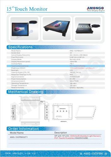 "Amongo 15"" light sensor lcd monitor for ATM (AMG-15OPBK02T1)"