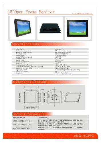 Amongo 15'' open frame lcd monitors