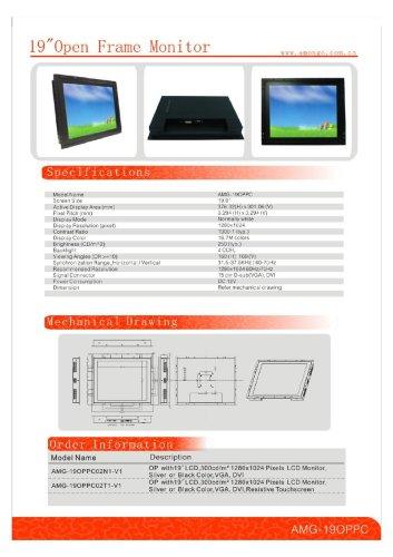 Amongo 19'' open frame monitors OPPC