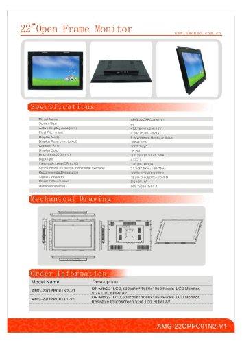 Amongo 22INCH industrial lcd monitors OPPC