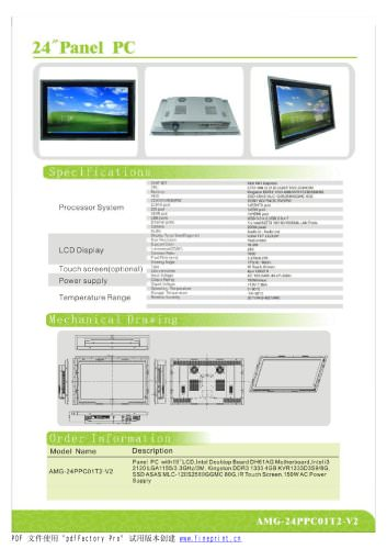 Amongo 24'' Fanless Touch Screen Industrial Panel PC with IR Touch screen Panel