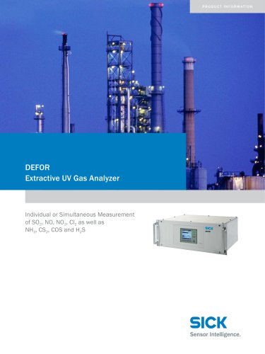 DEFOR  The specialist for UV-active gases