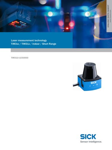 Laser measurement technology TiM3xx / TiM31x / Indoor / Short Range