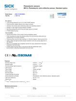 Photoelectric sensors MH15, Photoelectric retro-reflective sensor, Standard optics - 2