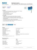 Photoelectric sensors W9-3, Photoelectric retro-reflective sensor, autocollimation - 2
