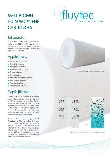 Melt-blown cartridges