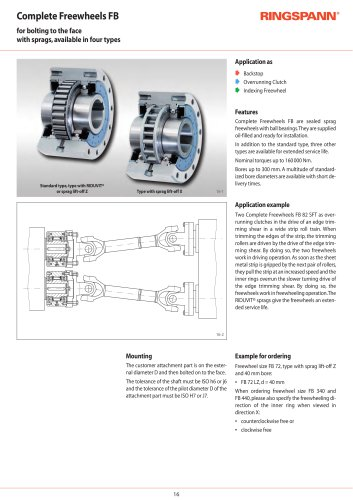 Complete Freewheels FB RINGSPANN