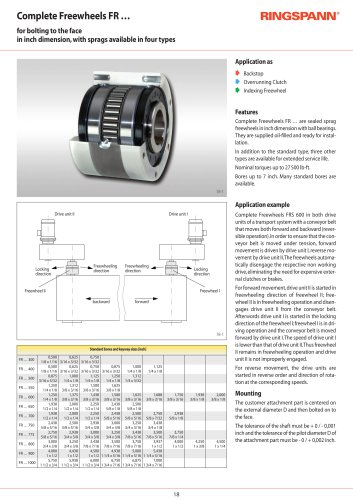 Complete Freewheels FR RINGSPANN