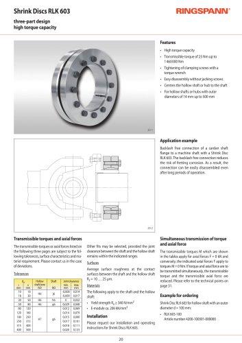 Shrink Discs RLK 603 RINGSPANN