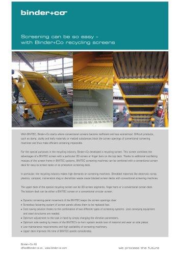 Binder-Co Recycling screen