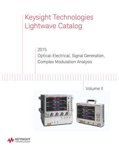 2015 Optical-Electrical, Signal Generation, Complex Modulation Analysis