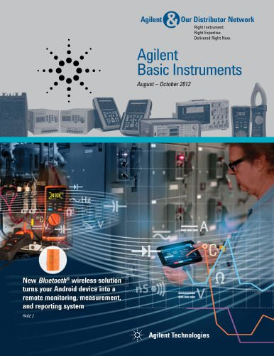 Agilent Basic Instruments August-October 2012 Promotions and Special Offers