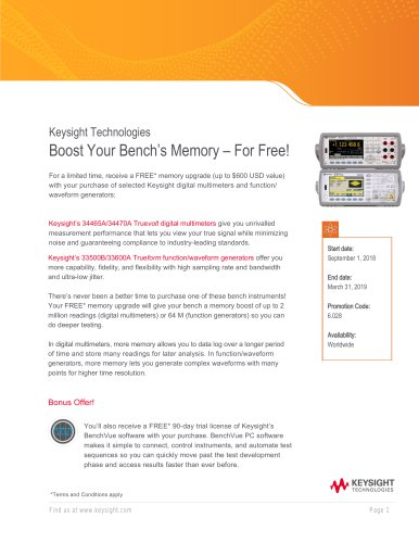 Boost Your Bench's Memory For Free - Distribution Promotional Flyer