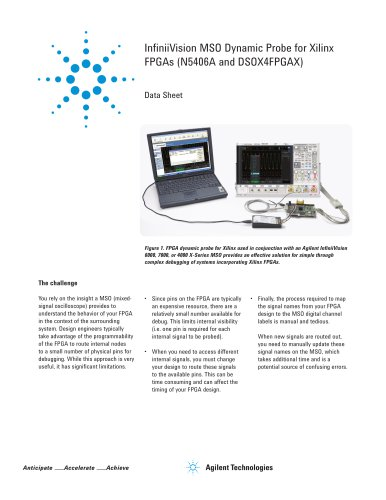 InfiniiVision MSO Dynamic Probe for Xilinx FPGAs (N5406A and DSOX4FPGAX)