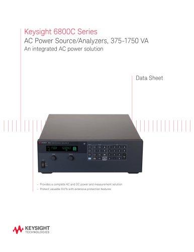Keysight 6800C Series AC Power Source/Analyzers, 375-1750 VA An integrated AC power solution