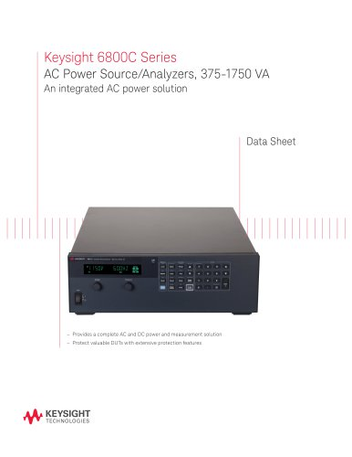 Keysight 6800C Series AC Power Source/Analyzers, 375-1750 VA An integrated AC power solution