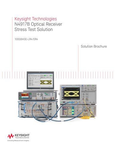 N4917B Optical Receiver Stress Test Solution