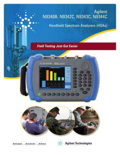 N9340B, N9342C, N9343C, N9344C Handheld Spectrum Analyzers (HSAs) - Brochure