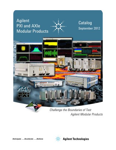 PXI and AXIe Modular Products Catalog September 2012