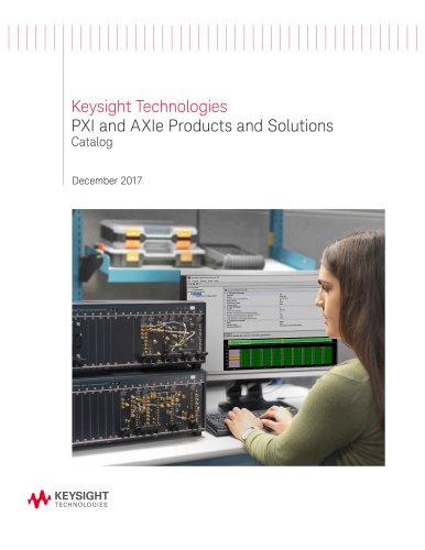 PXI and AXIe Products and Solutions Catalog