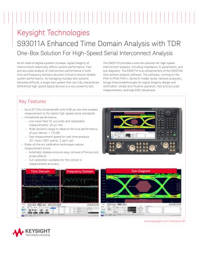 S93011A Enhanced Time Domain Analysis with TDR