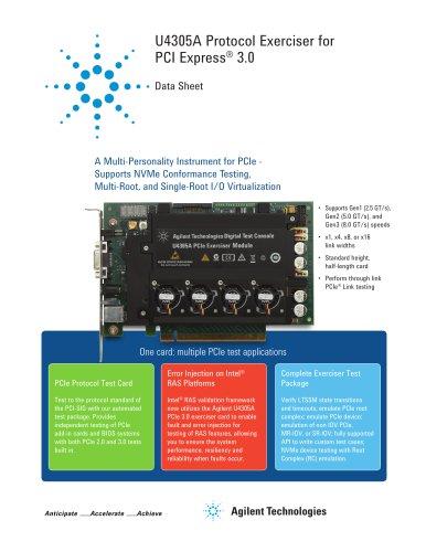U4305A Protocol Exerciser for PCI Express® 3.0