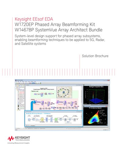 W1720EP Phased Array Beamforming Kit, W1467BP SystemVue Array Architect Bundle
