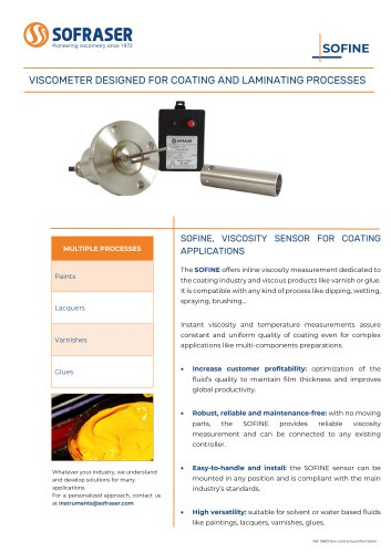 SOFINE - Viscometer designed for coating and laminating processes