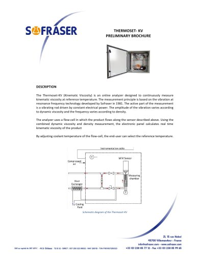 Thermoset-KV (kinematic viscosity) analyser at reference temperature