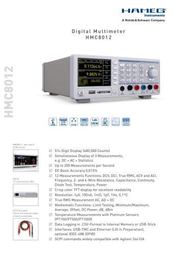 Digital Multimeter HMC8012