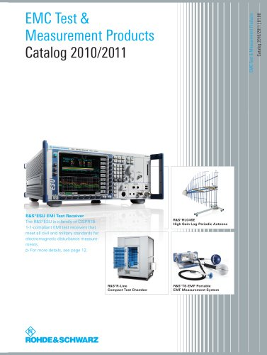 """""""EMC Test and Measurement Products Catalog 2010/2011"""""""
