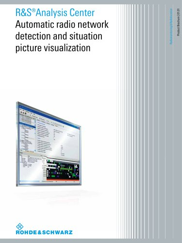 R&S®AnalysisCenter Automatic radio network  detection and situation  picture visualization