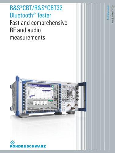 R&S®CBT/CBT32 Bluetooth® Tester