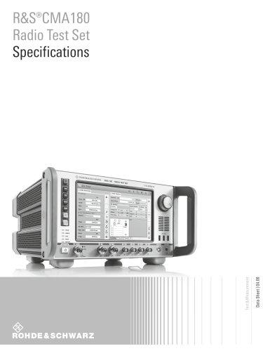 R&S®CMA180 Radio Test Set Specifications