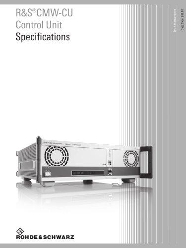 R&S®CMW-CU Control Unit Specifications