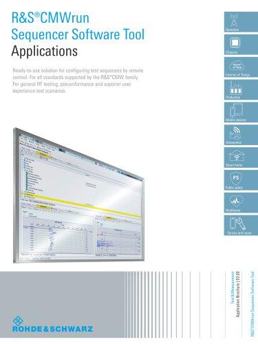R&S®CMWrun Sequencer Software Tool