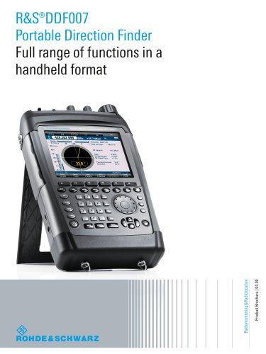 R&S®DDF007 Portable Direction Finder