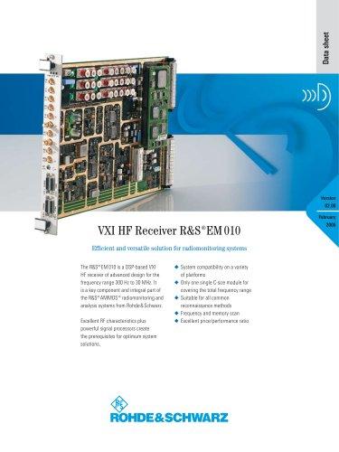 R&S®EM010 VXI HF Receiver