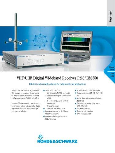 R&S®EM550 VHF/UHF Digital Wideband Receiver - Data sheet