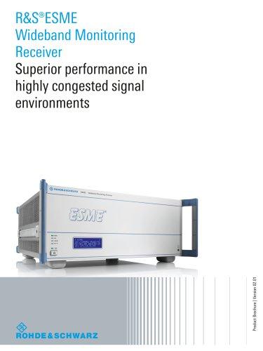 R&S®ESME Wideband Monitoring Receiver