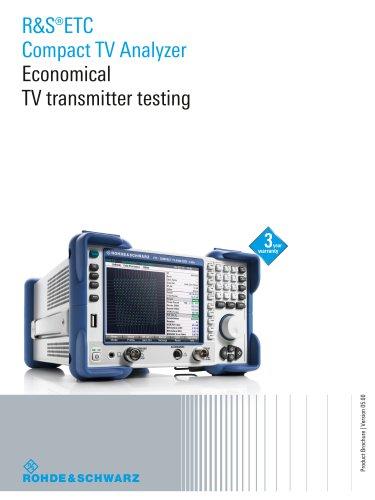 R&S®ETC Compact TV Analyzer