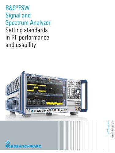 R&S®FSW Signal and Spectrum Analyzer