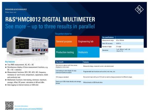 R&S®HMC8012 Digital Multimeter
