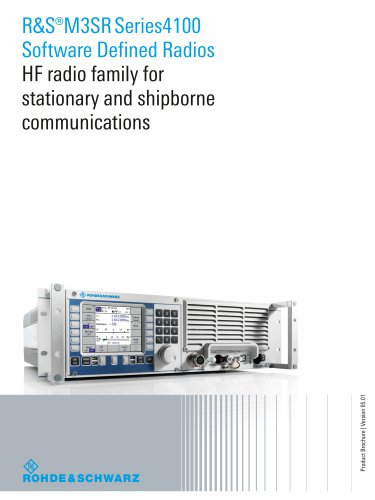 R&S®M3SR Series4100 Software Defined Radios - HF radio family for stationary and shipborne communications -