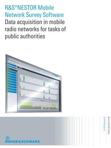 R&S®NESTOR Mobile Network Survey Software