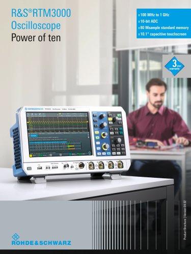 R&S®RTM3000 Oscilloscope Power of ten