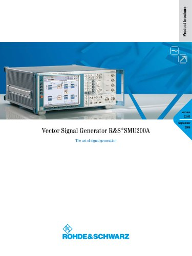 R&S®SMU200A Vector Signal Generator